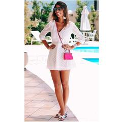 Vestido Lese Decote Off White Blessed