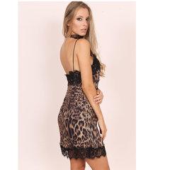 Vestido Slip Dress Animal Print Esmeral