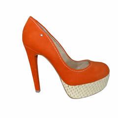 Scarpin Meia Pata Coral Macro Fashion