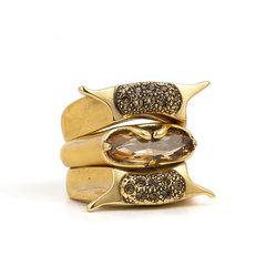 Kit com 3 Alianças com Baguete Ouro Velho Camila Klein