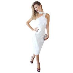 Vestido Midi Cruzado Branco Anne Fernandes