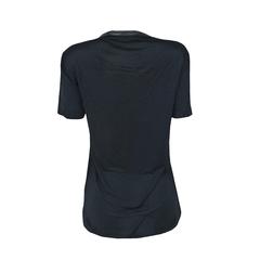 Camiseta com Detalhe na Gola em Couro Iódice