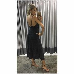 Vestido Fatima Lurex Preto Le Blog