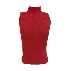 Blusa Regata Tricot Vermelho Lú Pessanha