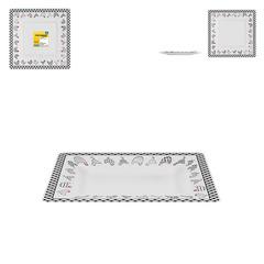 Prato de Vidro e Inox para Doces com 2 andares de 40 cm e 33 cm - Rojemac - 8534
