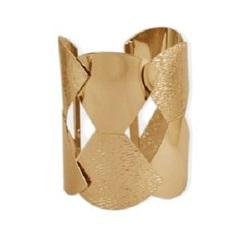 Bracelete Vazado Desenhos Geométricos Dourado Turpin 21099