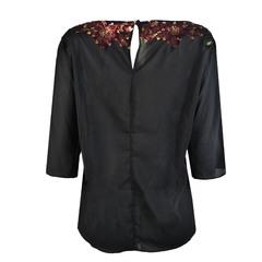 Blusa Paete Flores Preto Agilita'