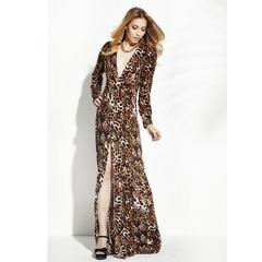 Vestido Longo Jersey Onça N.N Moda