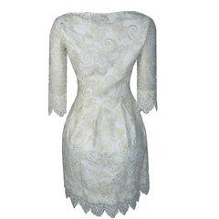 Vestido Renda Luxo Off White Lore
