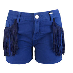 Short Jeans Franjas Azul M.Officer