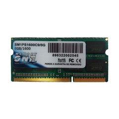 Memória Memory One para Notebook 8 GB DDR3 1600MHz SM1PS1600C9/8GB