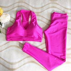 Conjunto Calça e Top 3D Pink Allmare