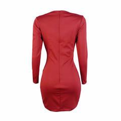 Vestido Malha com Botões Vermelho Amicci