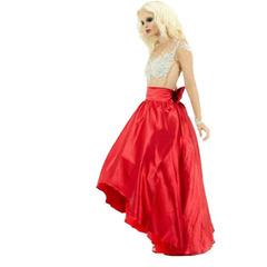 Saia Rússia Rodada Vermelho Pop Couture