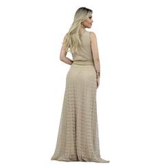 Vestido Longo com Decote em V Faven