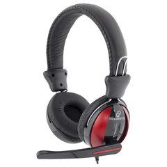 Fone de Ouvido Headset com Microfone Goldentec F200 Preto e Vermelho - Controle de volume