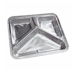 Bandeja Alumínio Marmitex 950ML 21,8x25cm com 3 Divisórias Thermoprat - 355