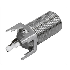 Conector F ChipSce 180 Graus Rosca  - 025-2069