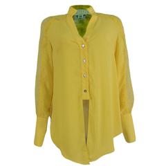 Camisa Laço Heavy Musseline Amarelo Agilità