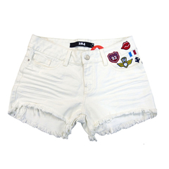 Short Destroyed com Patches Off White 284