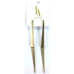 Brinco Palito Ponta Metal Dourado Lázara Design