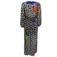 Vestido Longo Pala Estampado Lafê