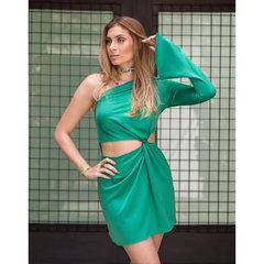 Vestido Lele Recortes Verde Lú Pessanha