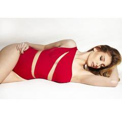 Body Transparência Vermelho N.N Moda