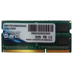 Memória Memory One para Notebook 4 GB DDR3 1600MHz - SM1PS1600C9/4GB