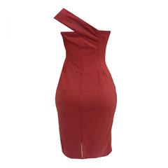 Vestido Midi Um Ombro Vermelho Tufi Duek