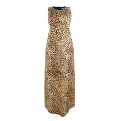 Vestido Longo Recorte Animal Print M.Officer