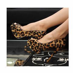 Peep Toe Nobuck Leopardo Divalesi