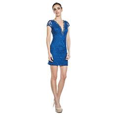 Vestido Renda Eva Azul Lore
