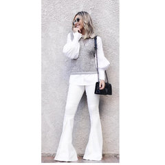 Calça Jeans Bertone Branco Carol Bassi