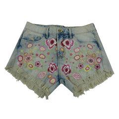 Short Jeans Bordado Anne Fernandes
