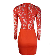 Vestido Mix Renda Coral Skunk