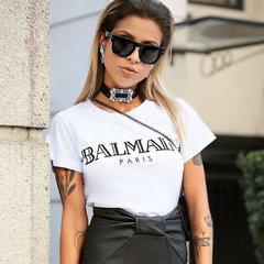Blusa T-Shirt Balmain Paris Branco Splash