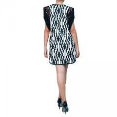 Vestido Graphic com Franja Anamac