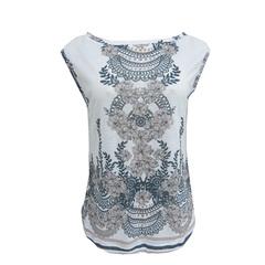 Camiseta Barrado Lustres Estampado Litt'