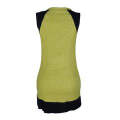 Vestido Recortes France Liso Amarelo Agilità