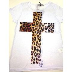 Blusa T-Shirt Onça em Cruz Branca B.Fly