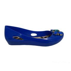 Sapatilha Feminina Jóia Azul Macro Fashion