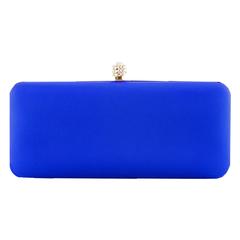 Clutch Retangular em Cetim Azul Donna Brasil