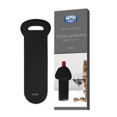 Porta Garrafa Vinho Preto Mor - 8064