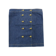 Saia Jeans com Botões Pat Pat's