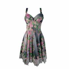 Vestido Midi Floral Degradê Burlesque