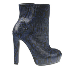 Bota Feminina Snake Azul Zatz