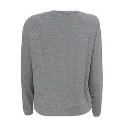 Camisa Moletom Detalhe Patches Cinza Esmeral