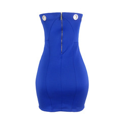 Vestido Fashion Neoprene Iódice Denim