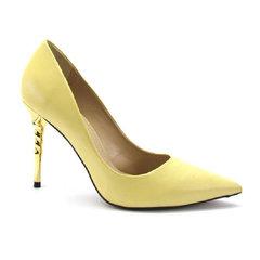Scarpin Cetim Amarelo Perolado Werner